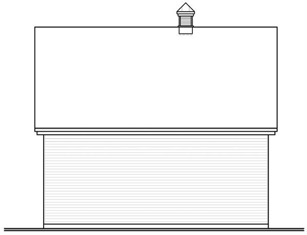 Traditional 3 Car Garage Plan 76154 Rear Elevation