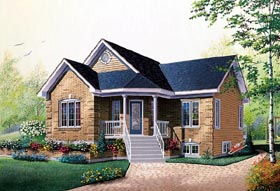 Bungalow , Traditional House Plan 76156 with 2 Beds, 1 Baths Elevation