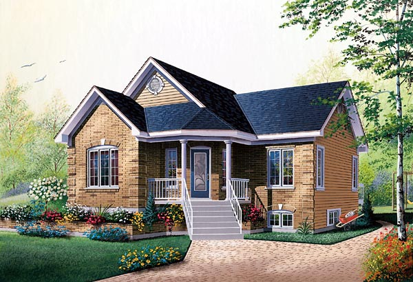 Bungalow Traditional House Plan 76156 Elevation
