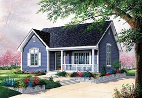 Ranch Traditional House Plan 76157 Elevation