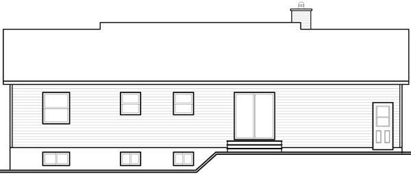 Ranch House Plan 76158 Rear Elevation