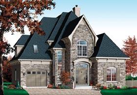 European Victorian House Plan 76160 Elevation