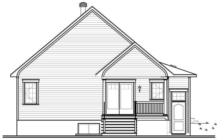 Country House Plan 76162 Rear Elevation