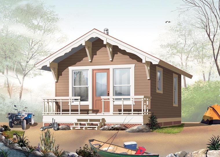 Cabin House Plan 76164 Elevation