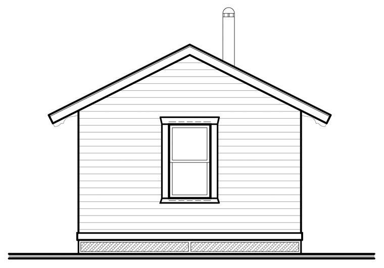 Cabin House Plan 76164 Rear Elevation