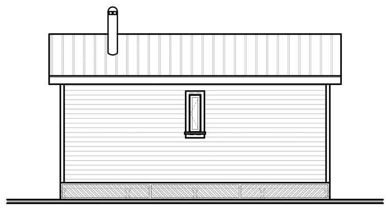 Cabin House Plan 76166 Rear Elevation