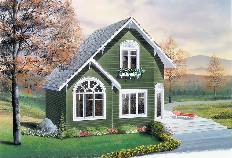 Country House Plan 76168 with 2 Beds, 2 Baths Elevation