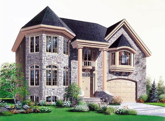 European House Plan 76169 Elevation