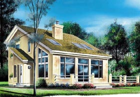 Contemporary House Plan 76170 with 3 Beds, 2 Baths Elevation