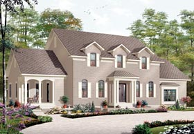 House Plan 76171 | Traditional Style Plan with 3126 Sq Ft, 5 Bedrooms, 5 Bathrooms, 2 Car Garage Elevation