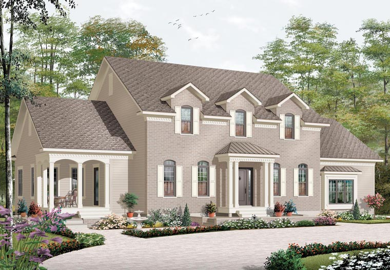 Traditional House Plan 76171 Elevation