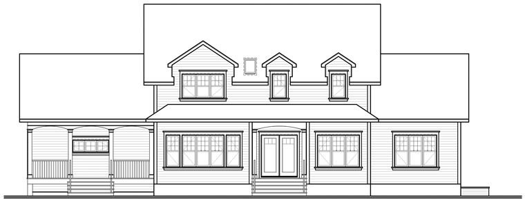 Traditional House Plan 76171 Rear Elevation