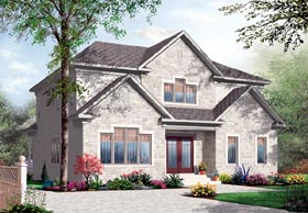House Plan 76173 | European Style Plan with 2885 Sq Ft, 5 Bedrooms, 4 Bathrooms Elevation