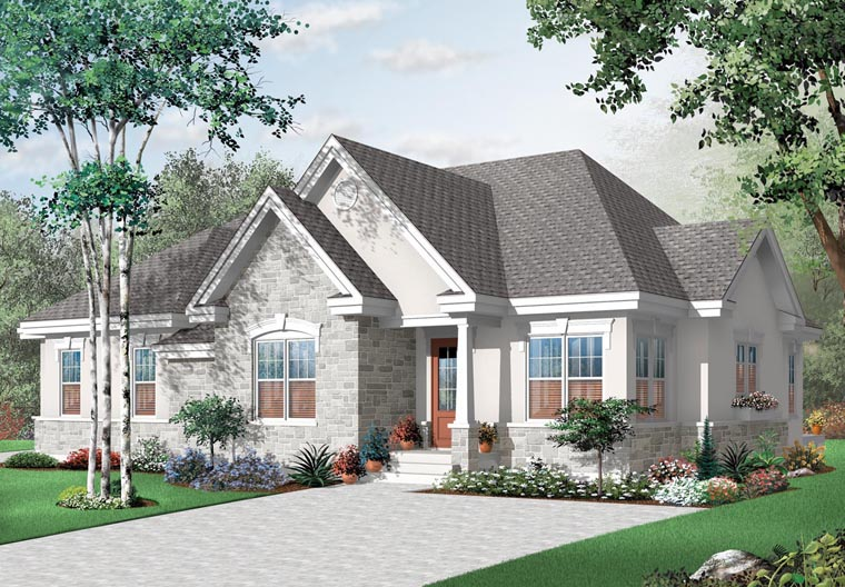 European House Plan 76174 Elevation