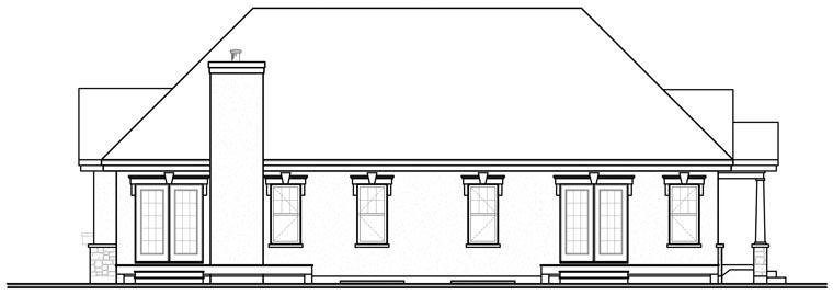 European House Plan 76175 Rear Elevation