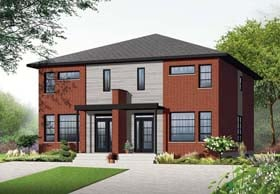 Contemporary Multi-Family Plan 76178 Elevation