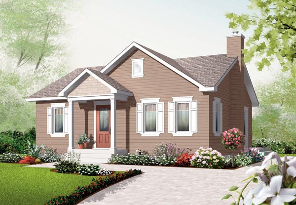 Bungalow House Plan 76181 with 2 Beds, 1 Baths Elevation