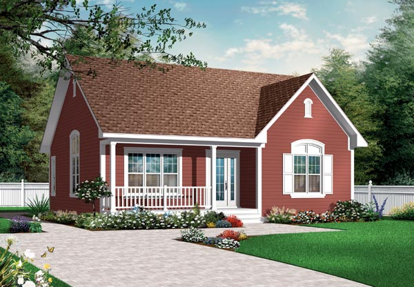 Bungalow Country Traditional House Plan 76182 Elevation