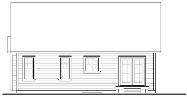 Bungalow Country Traditional House Plan 76182 Rear Elevation