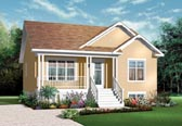 Plan Number 76183 - 911 Square Feet