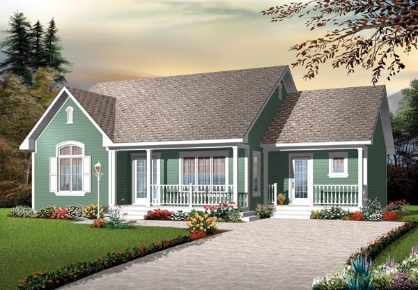 Bungalow Country Traditional House Plan 76184 Elevation
