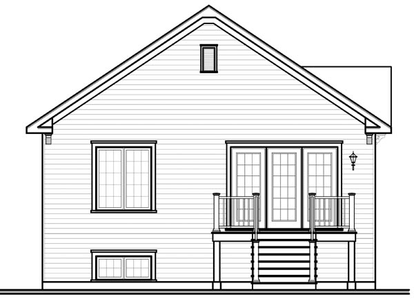 House Plan 76185 Rear Elevation