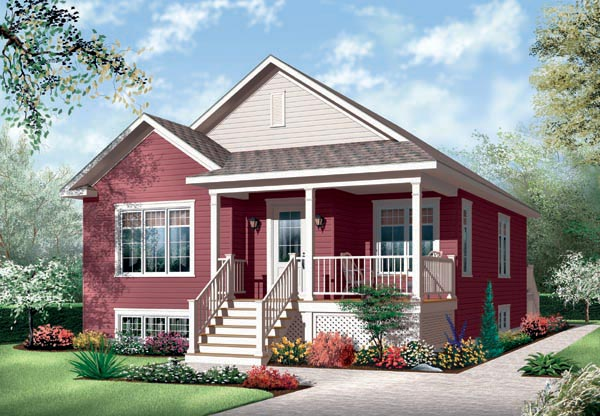 Country House Plan 76186 with 2 Beds, 1 Baths Elevation