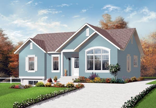 Bungalow , Elevation of Plan 76187