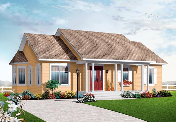 Bungalow Country House Plan 76189 Elevation