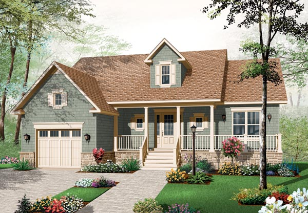 Bungalow Country Craftsman Farmhouse House Plan 76193 Elevation