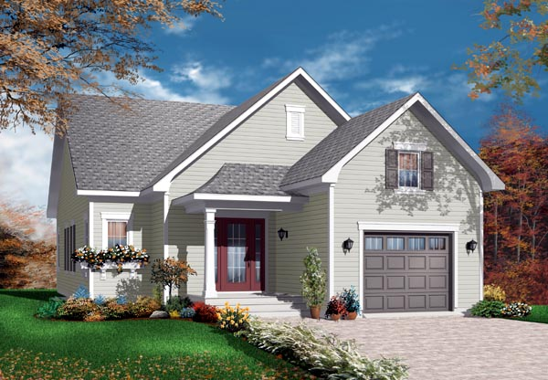 Bungalow House Plan 76194 Elevation