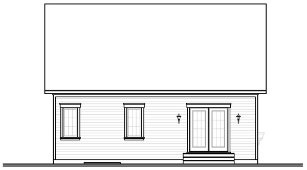Bungalow House Plan 76194 Rear Elevation