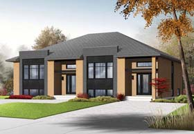 Contemporary Multi-Family Plan 76196 with 6 Beds, 4 Baths Elevation