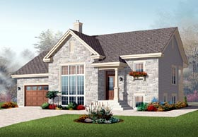 Bungalow European House Plan 76197 Elevation
