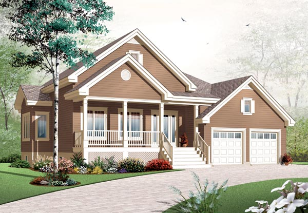 Country House Plan 76198 Elevation