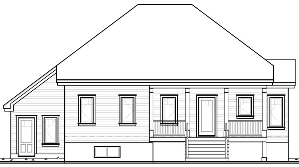 Country House Plan 76198 Rear Elevation