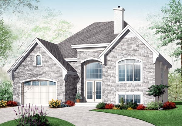 European House Plan 76199 Elevation