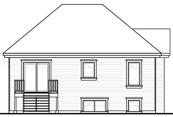 House Plan 76205 Rear Elevation