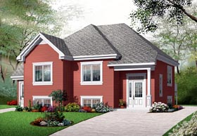 House Plan 76206 Elevation