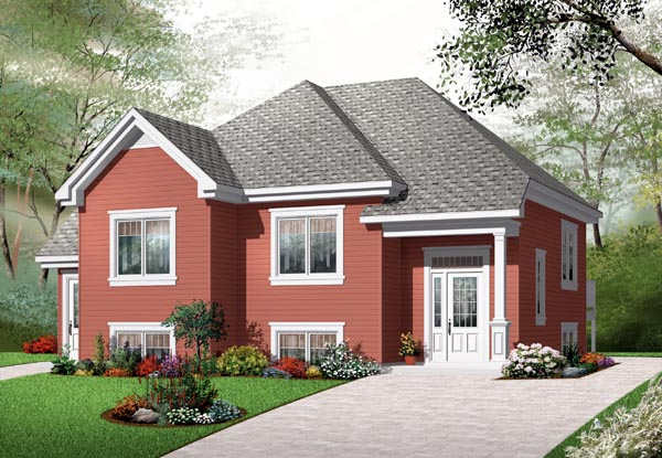 House Plan 76206 Elevation