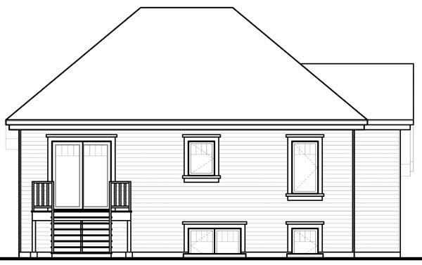 House Plan 76206 Rear Elevation
