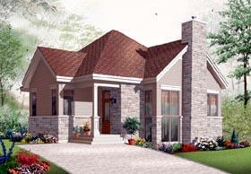 Country Craftsman European House Plan 76207 Elevation