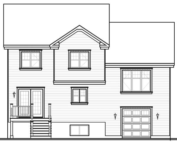 House Plan 76209 Rear Elevation