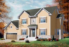 European Traditional House Plan 76210 Elevation