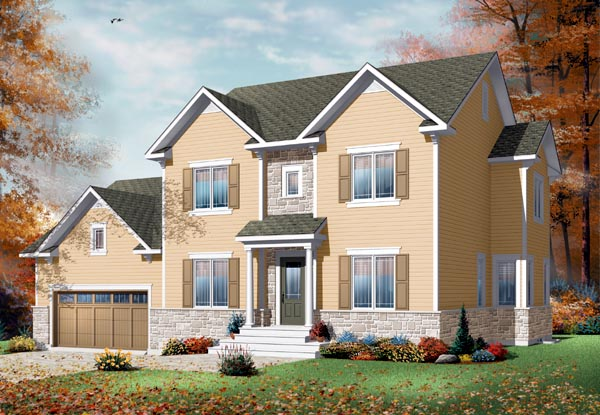 European Traditional House Plan 76210 Elevation