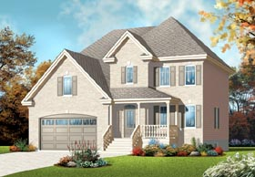 European House Plan 76211 Elevation