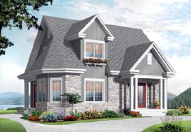 House Plan 76213 | Country European Style Plan with 1534 Sq Ft, 3 Bedrooms, 2 Bathrooms Elevation