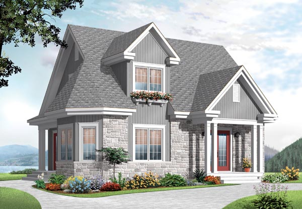 Country European House Plan 76213 Elevation