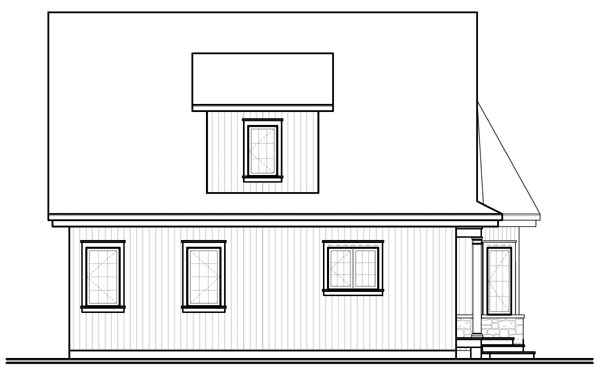 Country European House Plan 76213 Rear Elevation