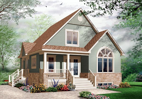 Country, Craftsman House Plan 76214 with 3 Beds, 2 Baths Front Elevation